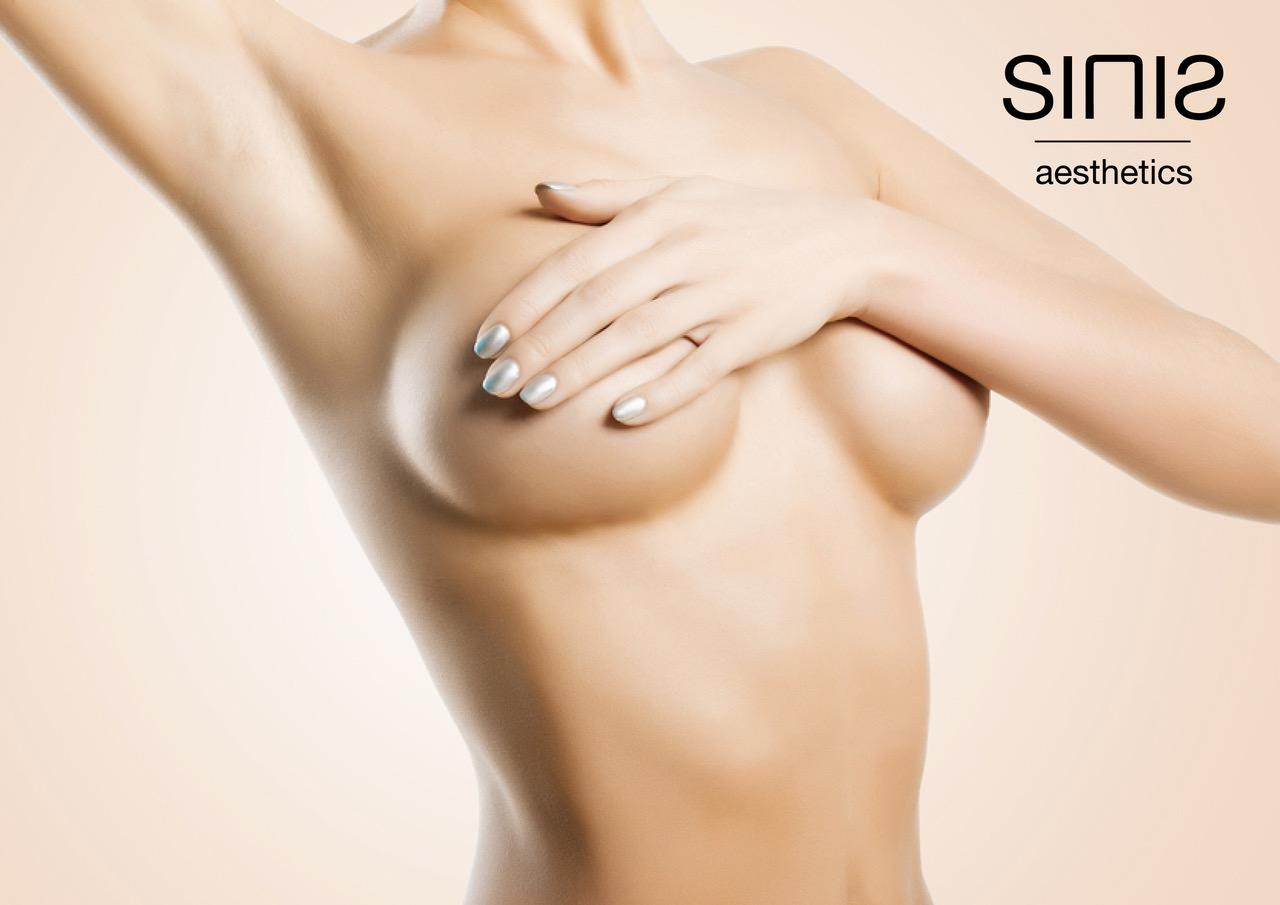 Volle Brust nach Brustvergrößerung mit Minimal-Touch-Technik