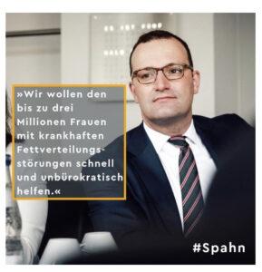 Jens Spahn Aussage Fettverteilungsstörungen